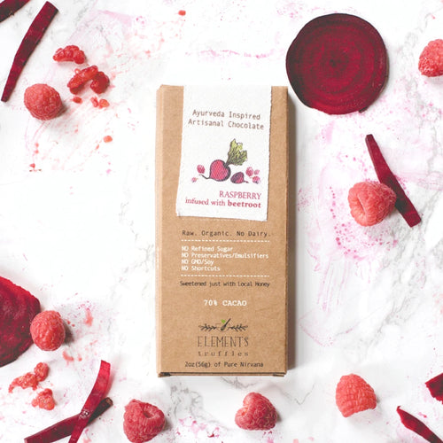 Raspberry with Beetroot Ayurveda Inspired Artisanal Chocolate (Vata Balancing)