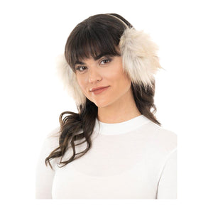 """Taupe Fox"" Faux Fur Ear Muffs"