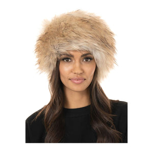 """Taupe Fox"" Faux Fur Russian Style Hat"