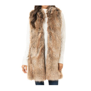 """Tipped Coyote"" Faux Fur Vest (20% OFF when you add to cart!)"