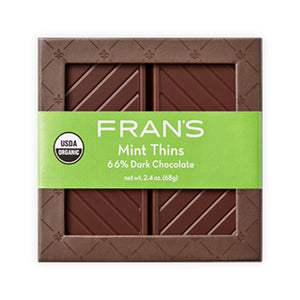 Organic Fran's Chocolate Mint Thins, 16pc.
