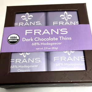 Organic Madagascar Dark Chocolate Thins 16pc.