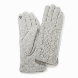 Half Knitted Cable Gloves