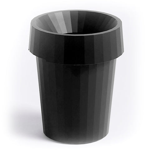 Shade Bin Waste Basket, Black