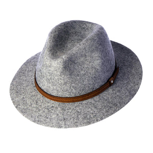 Women's Wool Felt Safari Hat, Grey Marle