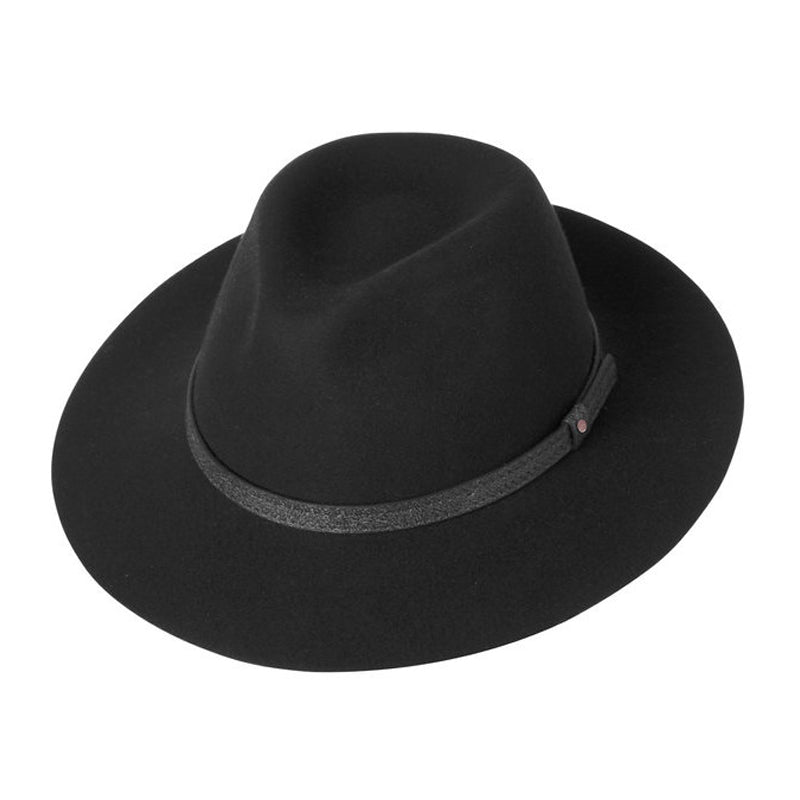 Women's Wool Felt Safari Hat, Black