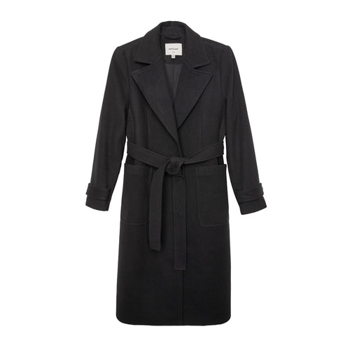 EVIE Vegan Wool Coat, Black (20% OFF when you add to cart!)