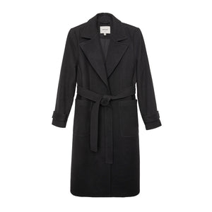 EVIE Vegan Wool Coat, Black