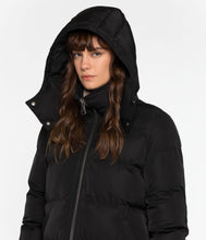 GIADA Vegan Long Puffer Coat, Black
