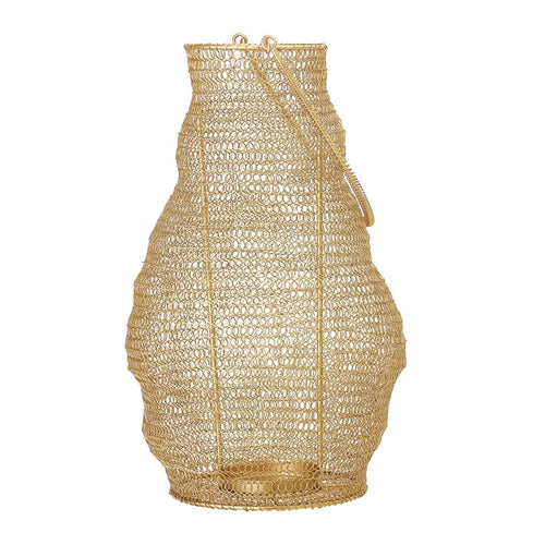 Mesh Gold Finish Lantern