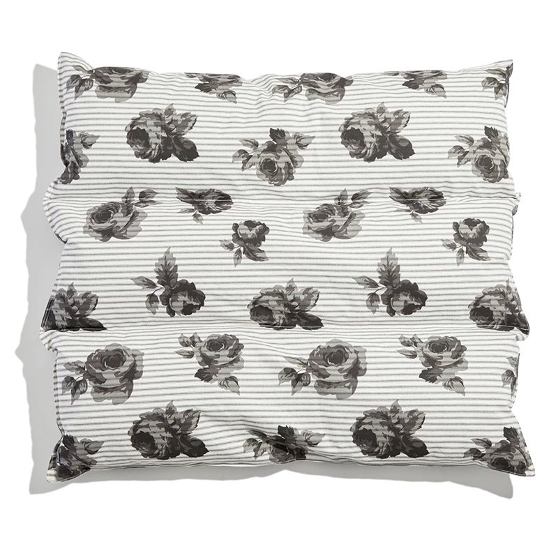 Black & White Floral Dog Bed