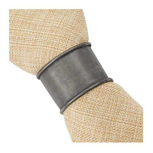 Napkin Ring Black Zinc, set/4