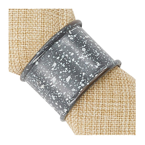 Napkin Ring Granite Enamelware, set/4