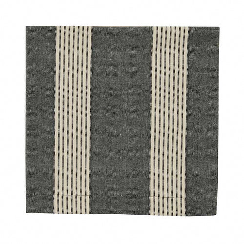 Cloth Dinner Napkin, Graphite Stripe