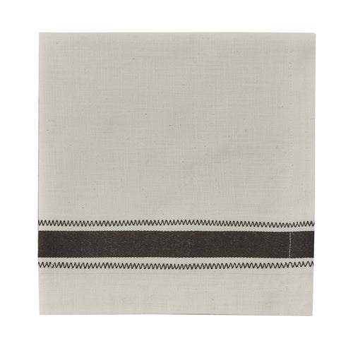 Cloth Dinner Napkin, Zig Zag Slate