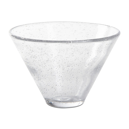 Bubble Glass Stemless Martini Glass