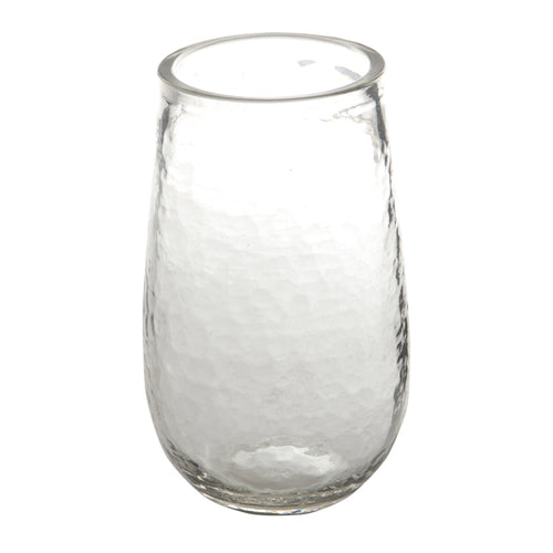 Tall Textured Drinking Glass