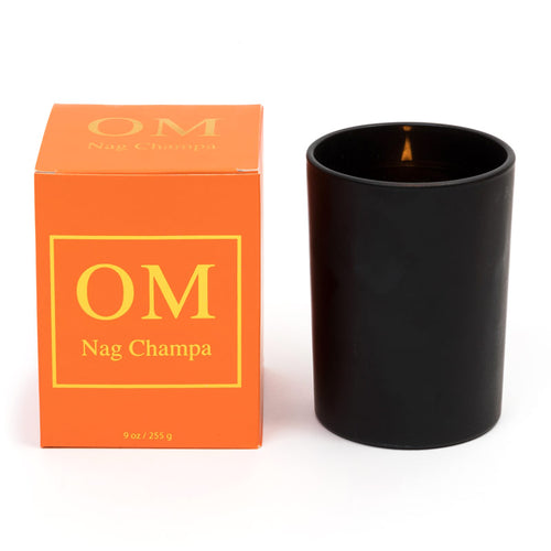 'OM' Nag Champa Essential Oil Soy Wax Candle