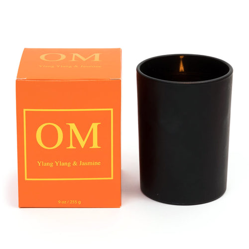 'OM' Ylang Ylang & Jasmine Essential Oil Soy Wax Candle