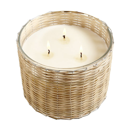 Handwoven Cut Grass 3 Wick Candle