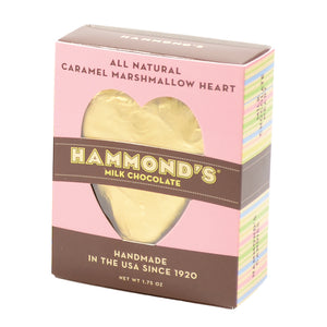 Hammond's Candies Marshmallow/Caramel Milk Chocolate Heart
