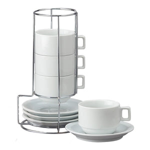 Cappuccino Cup Tower w/Stand