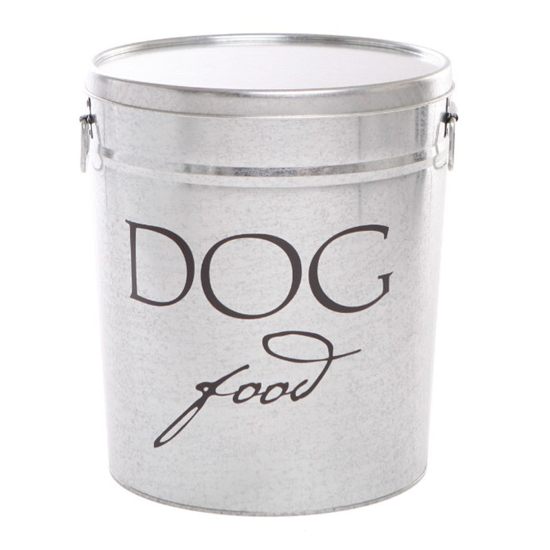 'DOG FOOD' Storage Container Classic Silver