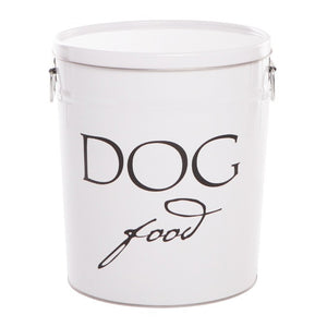 'DOG FOOD' Storage Container Classic White