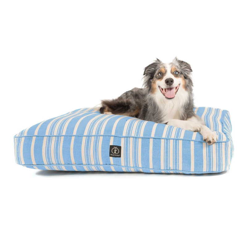 Eco-Friendly Classic Stripe Dog Bed, Blue