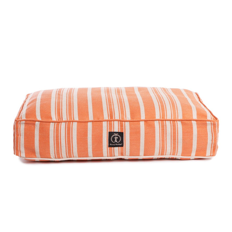 Eco-Friendly Classic Stripe Dog Bed, Orange