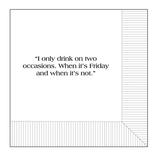 Modern General® Cocktail Napkin, I Only Drink
