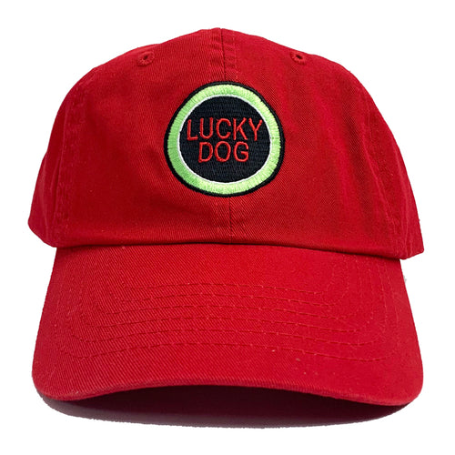 'Lucky Dog' Baseball Cap, Red