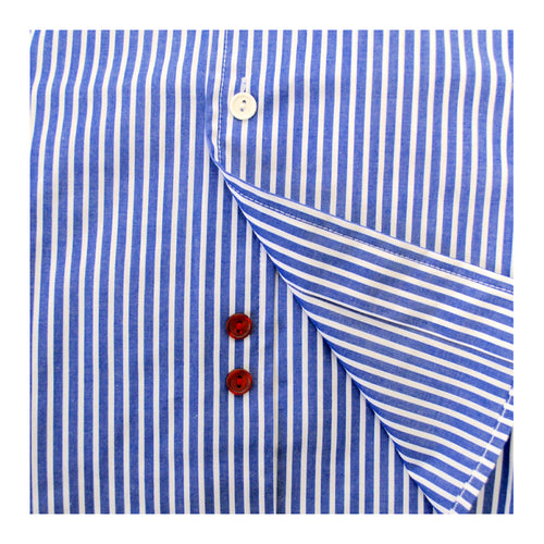 On Main Street Boyfriend Shirt, Blue/White Stripes