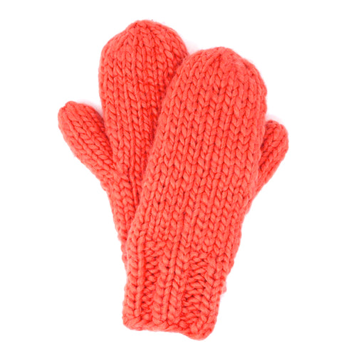 Mango Yarn Orange Mitten