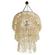 Hand-Carved Coconut Shell Three-Tier Chandelier