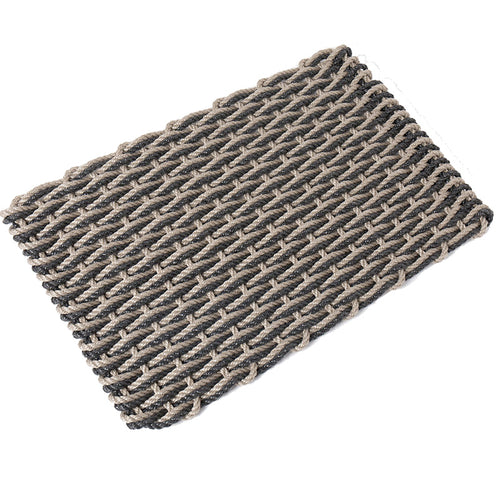 Recycled Rope Heavy Duty Doormat, Sand/Charcoal