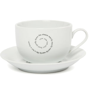 'Row Your Boat' Cafe Au Lait Cup and Saucer