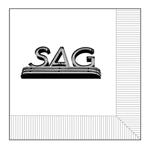 'SAG' Sag Harbor Cinema Cocktail Napkins