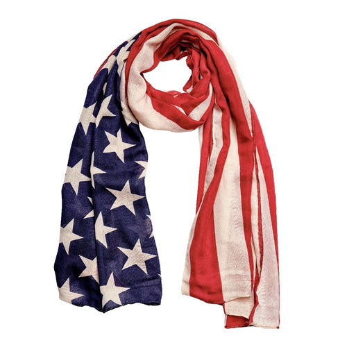 Woven American Flag Scarf