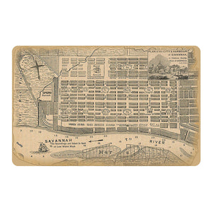 Savannah Map Doormat