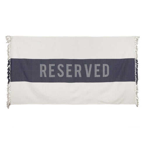 'Reserved' Beach Towel, Indigo PRE-ORDER (ships May 2019)