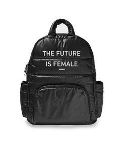 'The Future is Female' Puffer Backpack