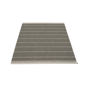 Coopers Beach Plastic Floor Mats Granit Metallic/Warm Grey/Vanilla Stripes (Multiple Sizes)