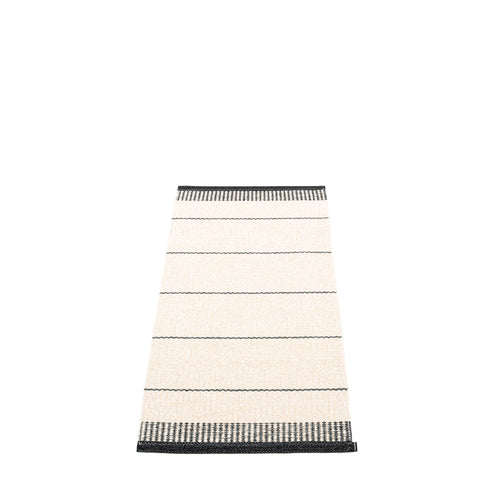 Coopers Beach Plastic Floor Mats Black/Vanilla/Granit Stripes (Multiple Sizes)