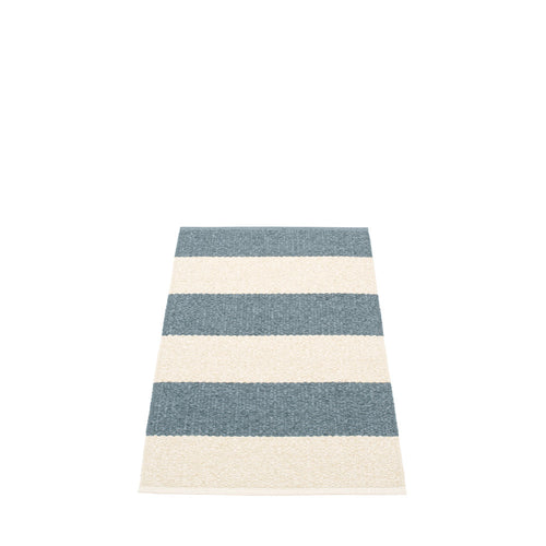 Bridgehampton Plastic Floor Mats Storm/Vanilla (Multiple Sizes)