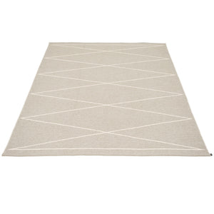 Navy Beach Plastic Floor Mats Linen/Vanilla (Multiple Sizes)
