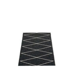 Navy Beach Plastic Floor Mats Black/Vanilla (Multiple Sizes)