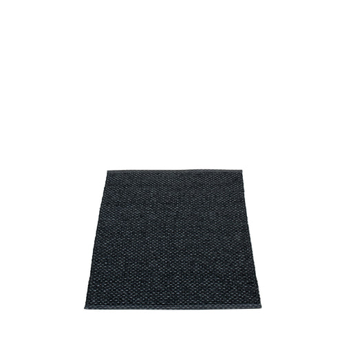 East Hampton Plastic Floor Mats Black/Metallic (Multiple Sizes)