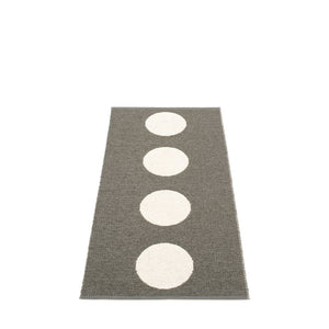 North Haven Plastic Floor Mats Charcoal/Vanilla (Multiple Sizes)