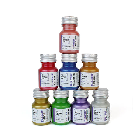 Complete Pearlescent Paint Set - 8 Colours - The Footwear Care